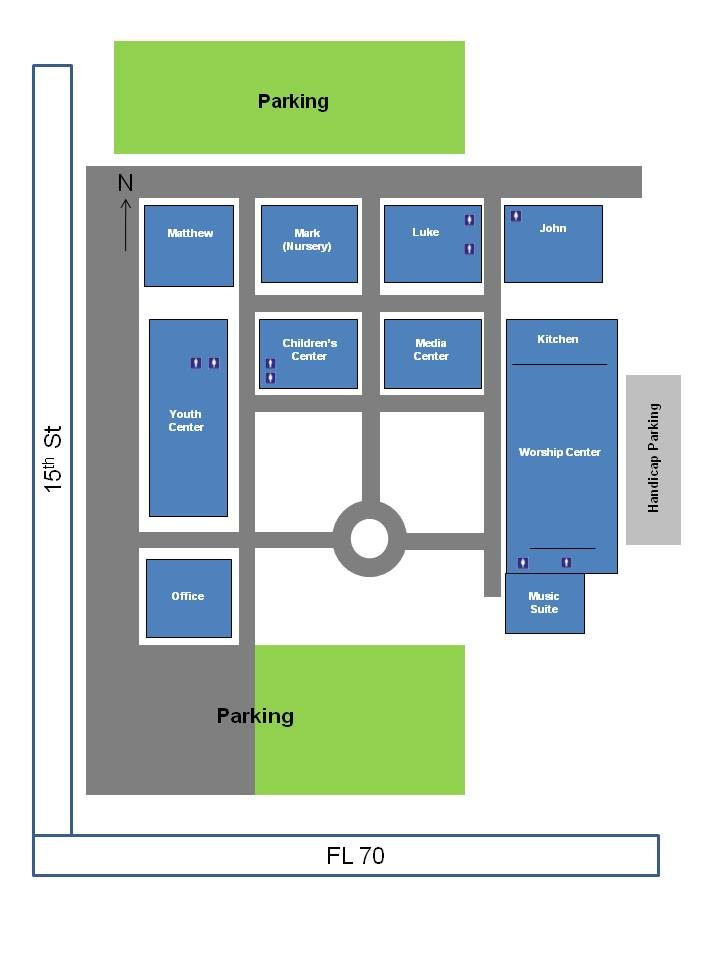 Campus Map Calvary Baptist Church Arcadia